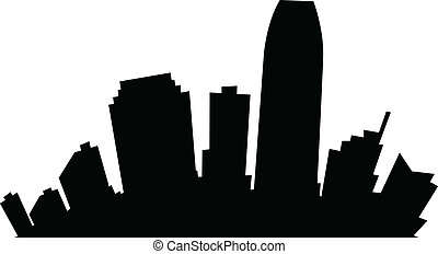 Cartoon Jersey City - Cartoon skyline silhouette of the city...