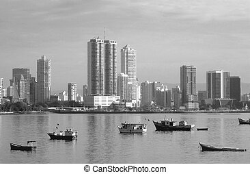 Panama city coast - wid angle picture of the panama city