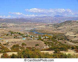 Turkey. Erzinkan. - Turkey. The Erzinkan on the banks of the...