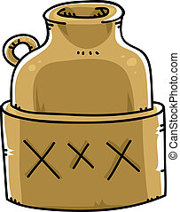 Booze Jug - A jug of moonshine booze marked with XXX