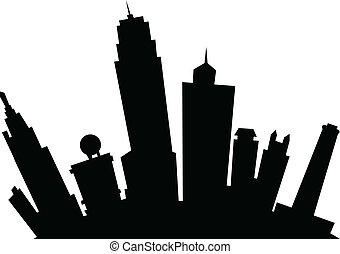 Cartoon Kansas City - Cartoon skyline silhouette of the city...