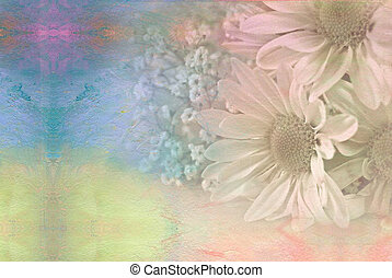 daisy bouquet with watercolors