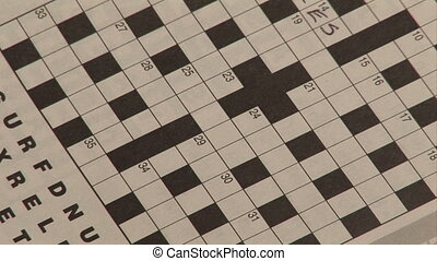 Stock Footage - Crossword