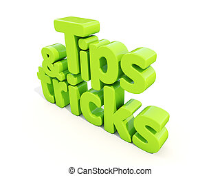 3d tips and tricks - Tips and tricks icon on a white...