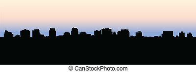 Toronto North York Skyline - Skyline silhouette of the Yonge...