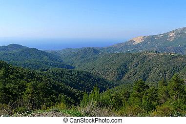 Syria. Mountains, landscape. Mediterranean.