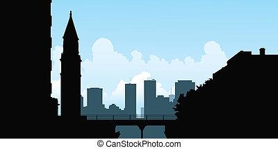 Toronto Silhouette - Skyline silhouette of the skyline of...