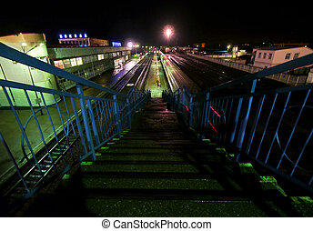 BUZULUK, RUSSIA - SEPTEMBER 29, 2010. Railway station. -...