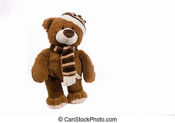 teddybear isolated on white background
