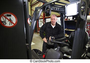 Forklift mechanic