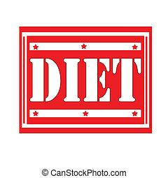 Diet-label - Red label with word Diet,vector illustration