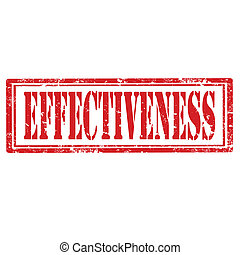 Effectiveness-stamp - Grunge rubber stamp with text...