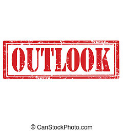 Outlook-stamp - Grunge rubber stamp with word Outlook,vector...