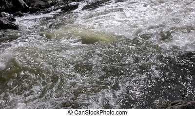 Rapids - close up of fast moving rapids