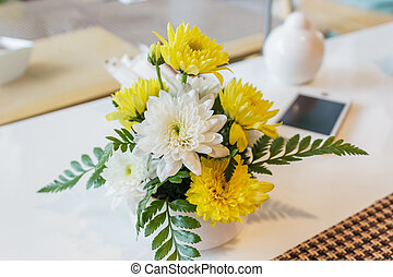Beautiful flower bouquet with sweet chrysanthemum -...