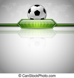 Soccer Background - Soccer symbol Football with green button...