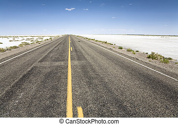 Road to the horizon - On the road to the Bonneville...