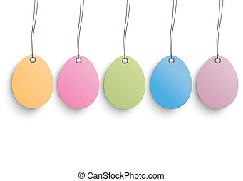 5 Colored Easter Eggs