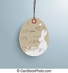 Easter Offer Vintage Price Sticker - Price sticker with text...