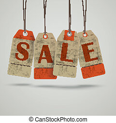 4 Vintage Price Sticker Sale - Infographic with price...