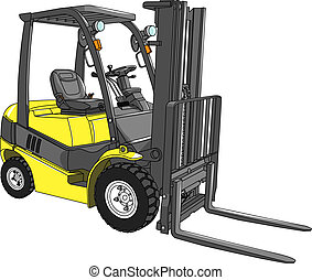 vector loader - vector yellow loader isolated on white...