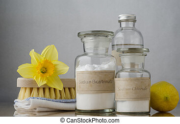 Natural Spring Cleaning - Still life of natural cleaning...