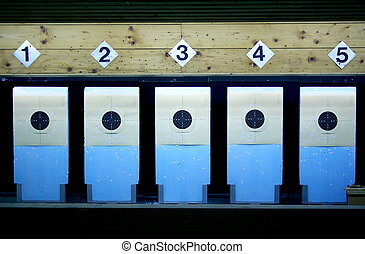 Shooting target - Target in a shooting gallery