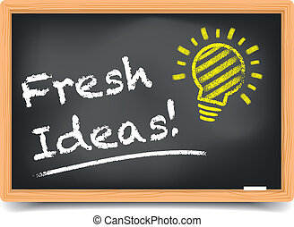 Blackboard Fresh Ideas - detailed illustration of a...