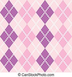 Seamless Argyle Pattern in pastel colors ( pink and purple )