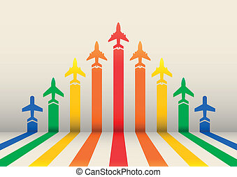 boost airplanes - boost illustration, arrows with airplanes...