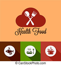 flat coffee shop design elements - Healthy Food Design...