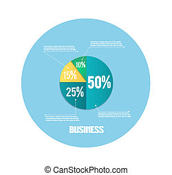 Business pie chart for documents and reports for documents,...