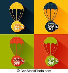 Discount parachute set - Set of parachutes with discount on...