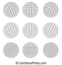 Abstract dotted sphere - Vector illustration of an abstract...