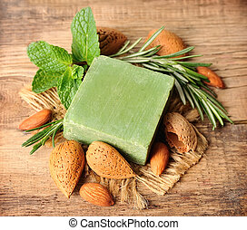 Soap with nuts