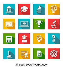 Internet education icons - Vector internet education icons...