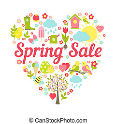 spring sale heart