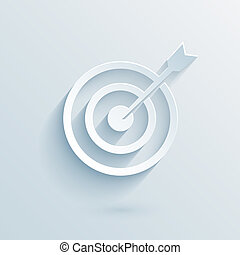 flat paper target with dart vector eps10 illustration for...