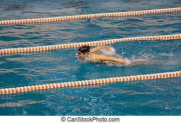 swimming girl pool sport competition