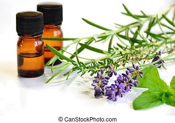 aromatherapy  - essential oils with herbs