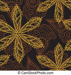 Floral seamless pattern with flower