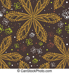 Floral seamless pattern with flowers - Seamless texture with...