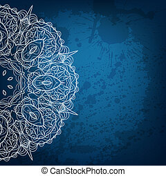 Abstract vector background. Beautiful lace arabesque