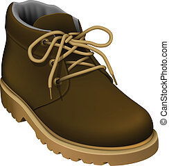 Work Boots - Layered vector illustration of Work Boots.