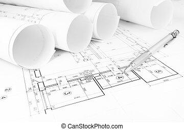 cianografie, costruzione, piano
