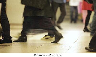 Walking in Japanese subway III