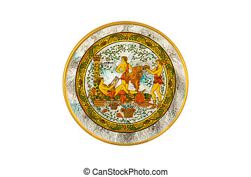Hand painted decorative plate - Handmade painted plate used...
