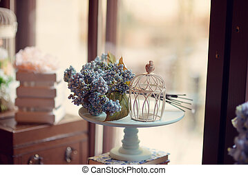 flowers on the window - Stand on a windowsill bouquet of...