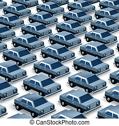 Car Dealership - Car dealership concept as a group of...