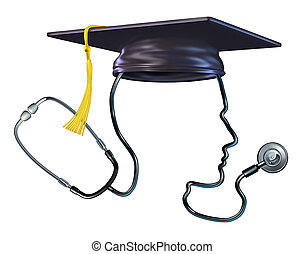 médico, educación, concepto